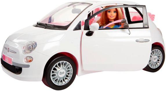 Poupée Barbie et véhicule Fiat