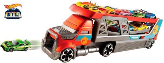 Camion plateforme lanceur Hot Wheels