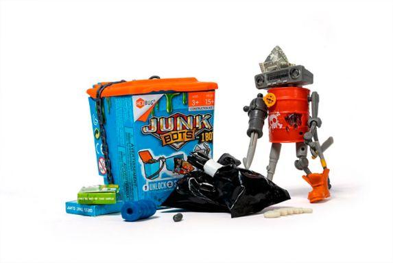 Junk Bots à collectionner HEXBUG, poubelle