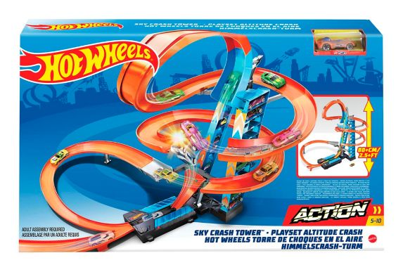 Piste Hot Wheels Sky Crash Tower