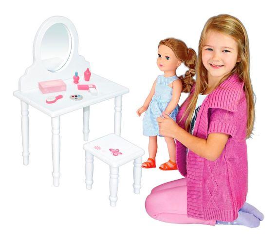 Doll Furniture, Doll Vanity, 18-in