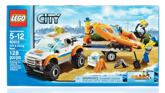 LEGO® City, 4x4 et bateau de plongée,  128 pièces Image de l'article