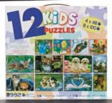 12-in-1 Kids Puzzle, Assorted