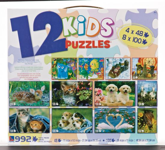 12-in-1 Kids Puzzle, Assorted Product image