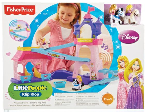 Little People Disney Princess Klip Klop Stable Play Set