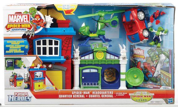 Quartier général Spider-Man avec hélicoptère