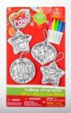 Décorations de Noël à colorier