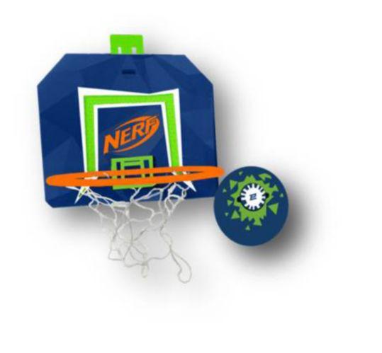 Nerf Energy Basketball Hoop and Ball