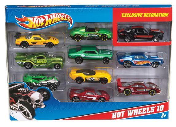 Assortiment de 10 automobiles essentielles Hot Wheels Image de l'article