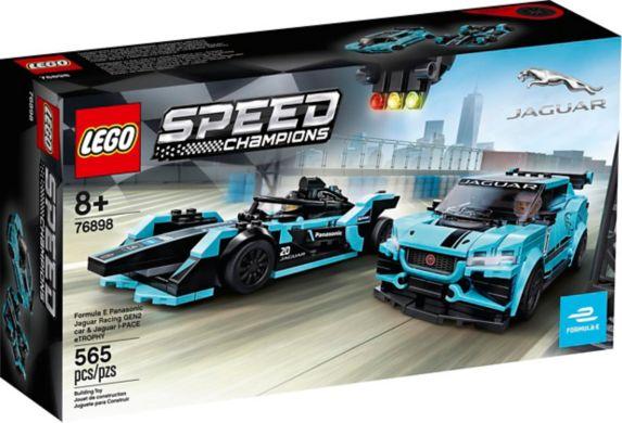 LEGO® Speed Champions Formula E Panasonic Jaguar Racing GEN2 car & Jaguar I-PACE eTROPHY Product image