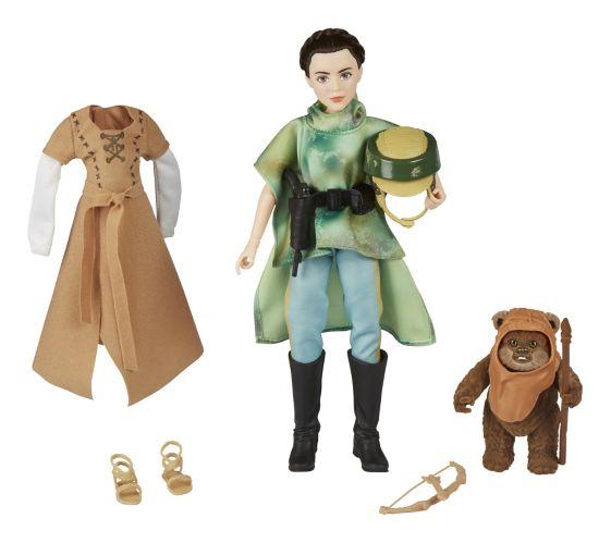 Figurines Princesse Leia et Ewok Star Wars : Forces du destin Image de l'article