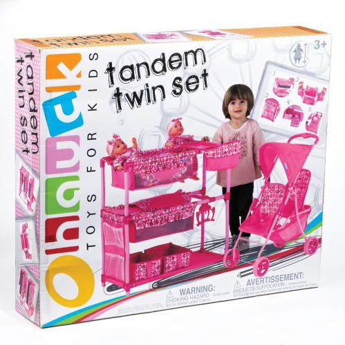 Heart Pink Twin Doll Set Product image