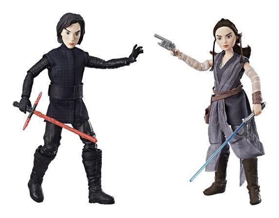 Figurines Star Wars : Forces du destin Rey de Jakku et Kylo Ren, paq. 2
