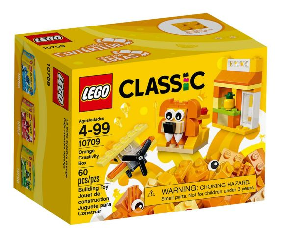 LEGO Classic Orange Creativity Box, 60-pc