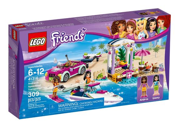 LEGO Friends Andrea's Speedboat Transporter, 309-pc Product image