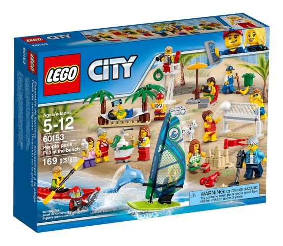 Ensemble de figurines LEGO City, Amusement à la plage, 169 pces