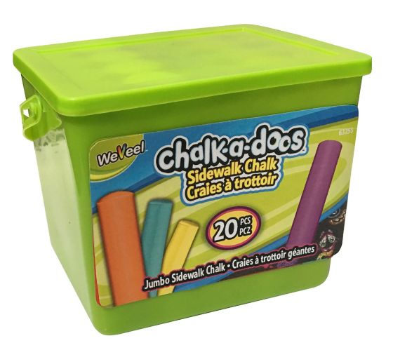 Chalk-a-doos Jumbo Sidewalk Chalk, 20-pc