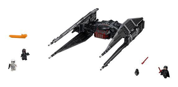 LEGO Star Wars Kylo Ren's TIE Fighter, 630-pc