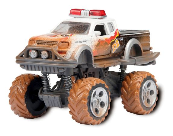 Rally Monster Pullback Car, Assorted, 6-in