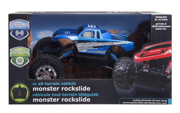 Black Series Remote Control Rock Slide Truck, Assorted