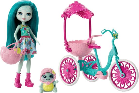 Enchantimals Taylee Turtle & Bounder Cycling Set