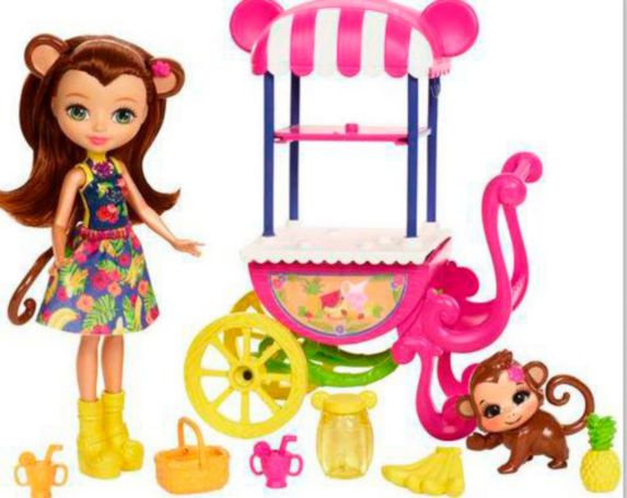 Enchantimals Merit Monkey Doll with Fruit Cart Product image