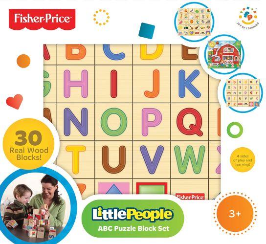 Fisher-Price Alpha & Puzzle Blocks Set, 30-pc
