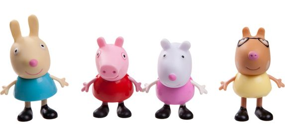 Peppa Pig Friends & Family Set, Assorted, 3-in, 4-pk Product image