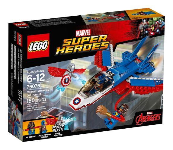 La poursuite en avion de Capitaine America LEGO Marvel Super Heros, 160 pces Image de l'article