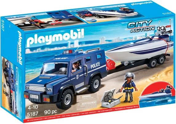 PLAYMOBIL Police Truck with Speedboat Product image