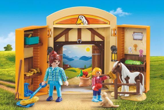 Coffret de jeu d'écurie avec poney Playmobil Image de l'article