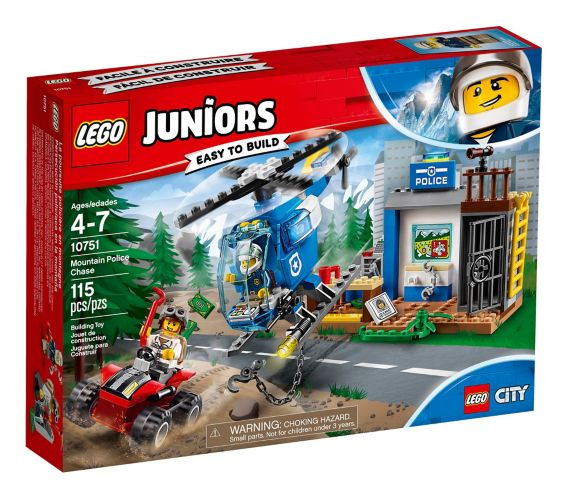 LEGO Juniors Mountain Police Chase, 115-pc