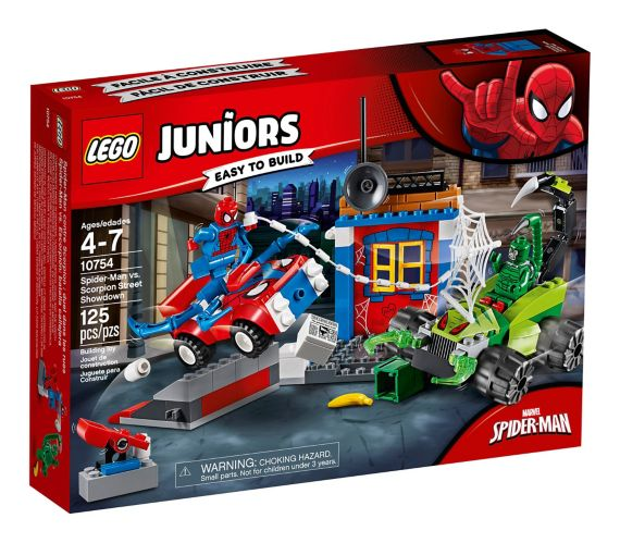 LEGO Juniors Spider-Man vs. Scorpion Street Showdown, 125-pc Product image