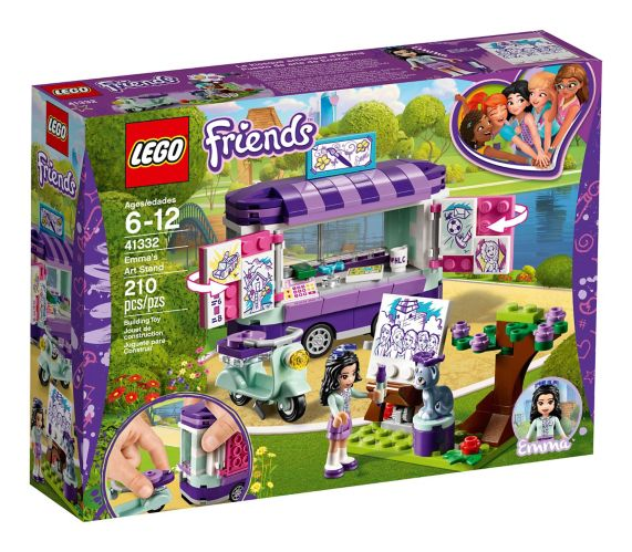 Le kiosque artistique d'Emma LEGO Friends, 210 pces