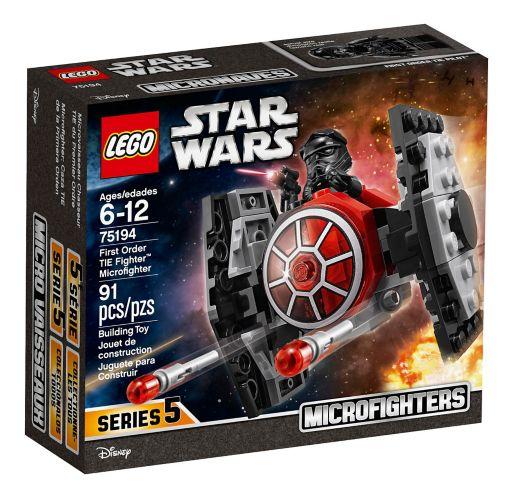 Microvaisseau Chasseur TIE du PremierOrdre LEGO Star Wars, 91 pces Image de l'article