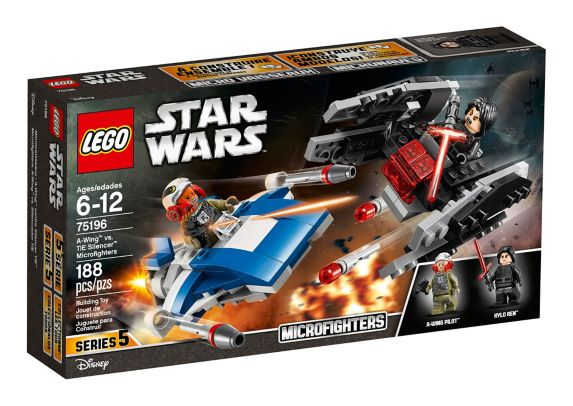 LEGO Star Wars A-Wing vs. TIE Silencer Microfighters, 188-pc