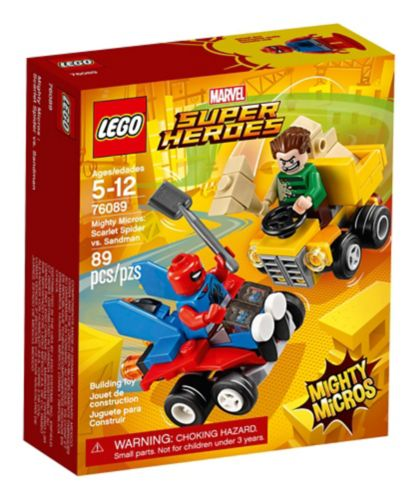 LEGO Marvel Super Heroes, Mighty Micros : Scarlet Spider vs. Sandman, 89 pces