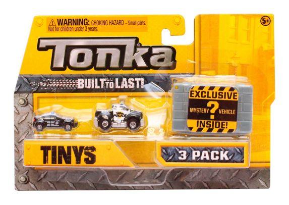 Tonka Tinys Vehicles, Assorted, 3-pk