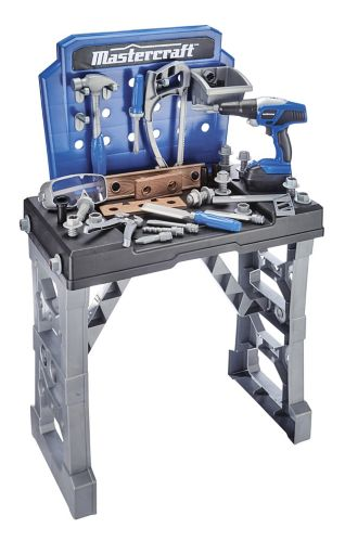 Mastercraft Deluxe ToyWork Bench with Power Drill