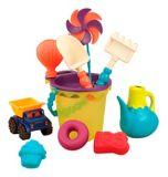 Sac de jouets prêt pour la plage