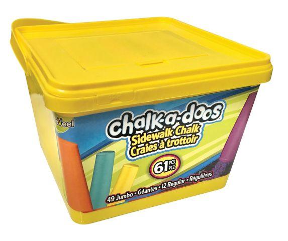 Chalk-a-doos Jumbo Sidewalk Chalk, 61-pc Product image