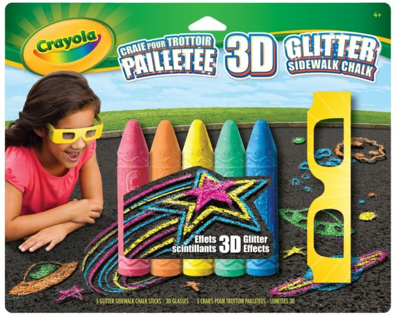 Crayola 3D Glittered Sidewalk Chalk Product image