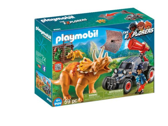 PLAYMOBIL Enemy Quad with Triceratops Playset Product image
