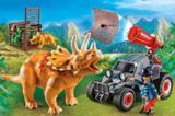 PLAYMOBIL Enemy Quad with Triceratops Playset | PLAYMOBILnull