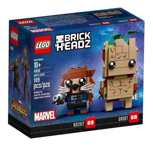 LEGOMD BrickHeadzMC Groot et Rocket - 41626 Image de l'article