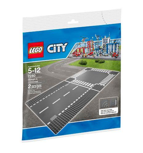 LEGOMD City, Plaques de route - Ligne droite et carrefour - 7280 Image de l'article