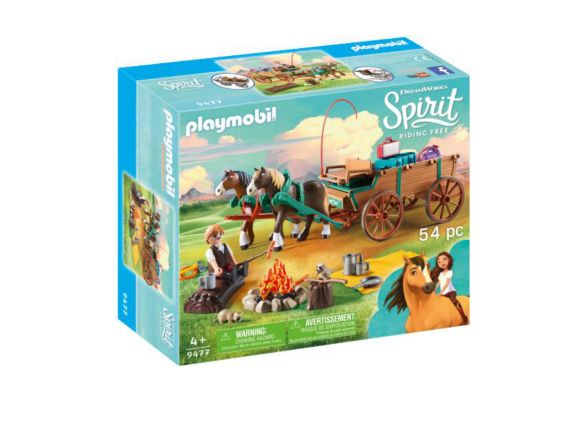 PLAYMOBIL Spirt Lucky's Dad & Wagon Playset Product image