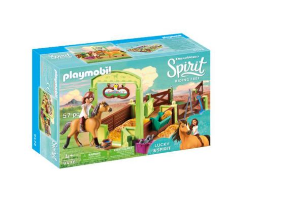 PLAYMOBIL Spirit Riding Free Lucky & Spirit with Horse Stall Playset Product image