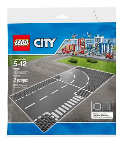 LEGO® City T-Junction & Curved Road Plates Product image