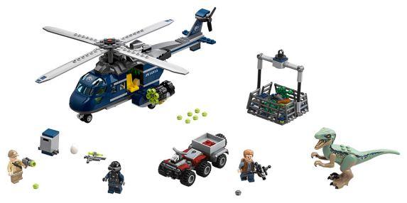 La poursuite en hélicoptère de Blue LEGO Jurassic World - 75928 Image de l'article